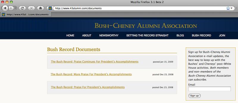 Bush Cheney Alumni Association
