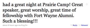 Praise tweet