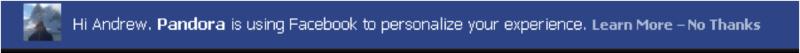 Pandora FB privacy