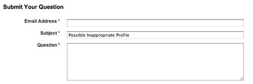LinkedIn Abuse Report System