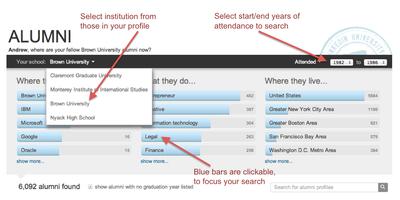 LinkedIn Alumni Features